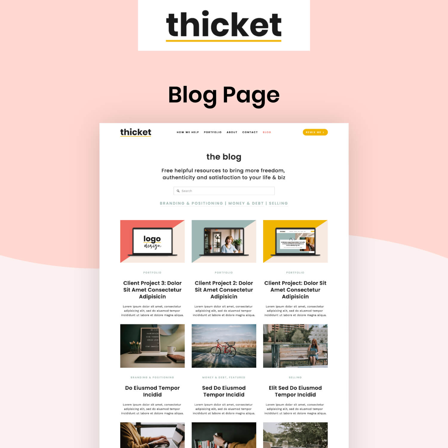 Thicket Blog Page