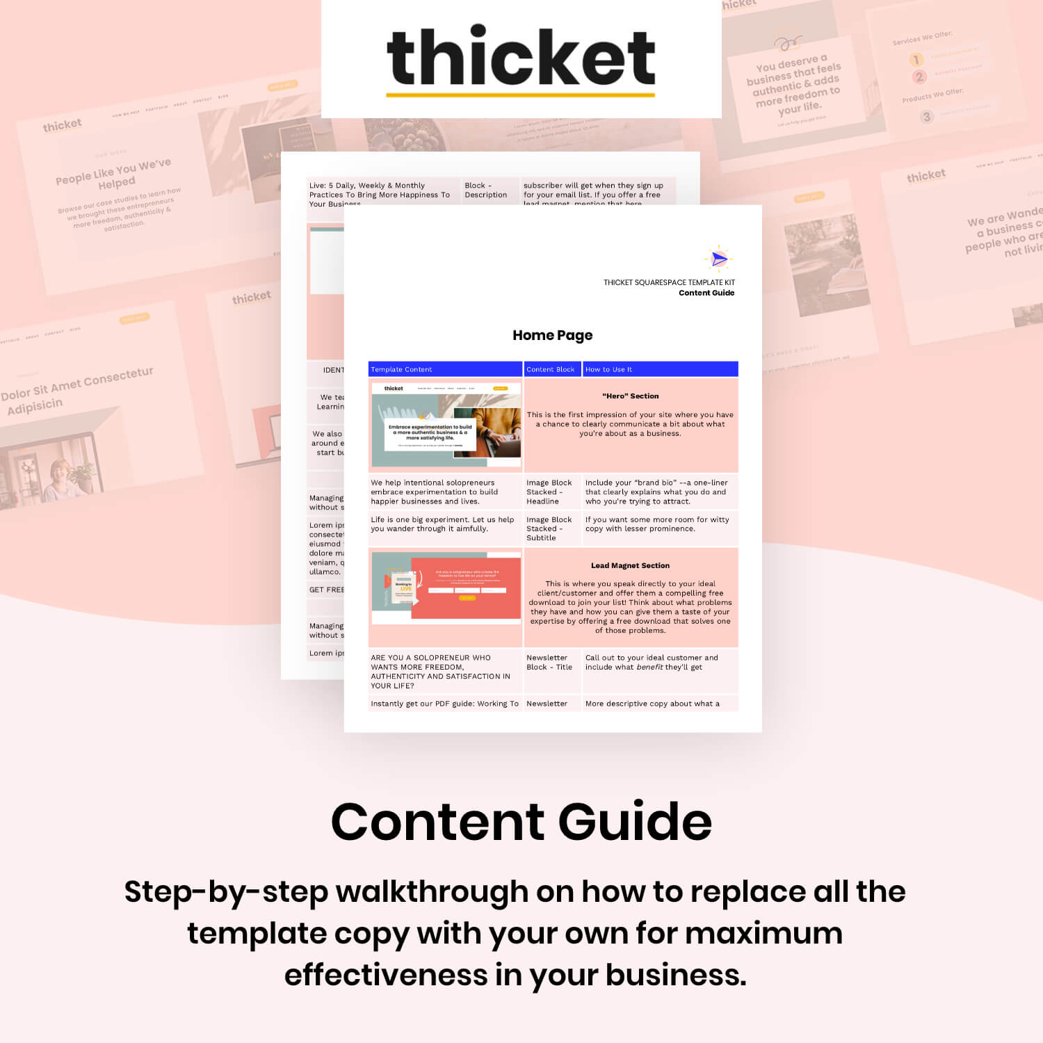 Thicket Content Guide