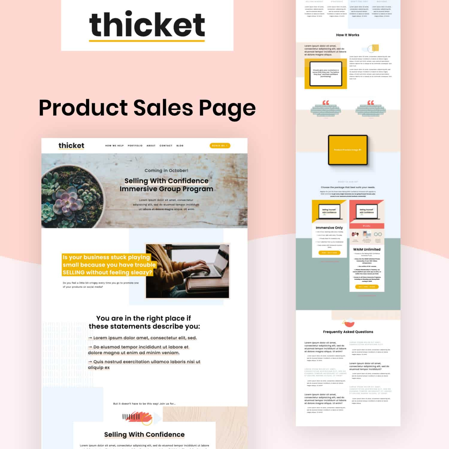 Thicket Product Sales Page