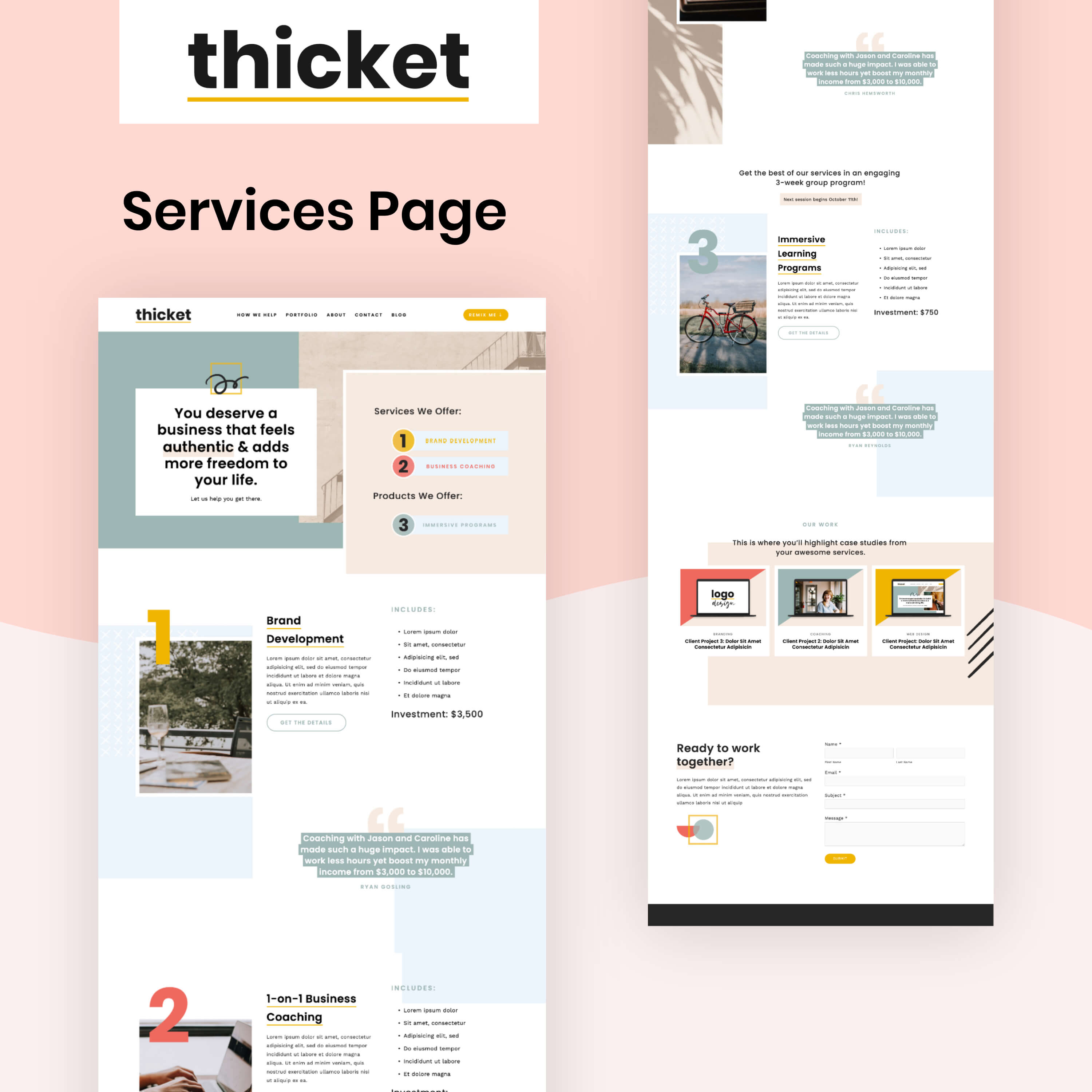 Thicket Services Page