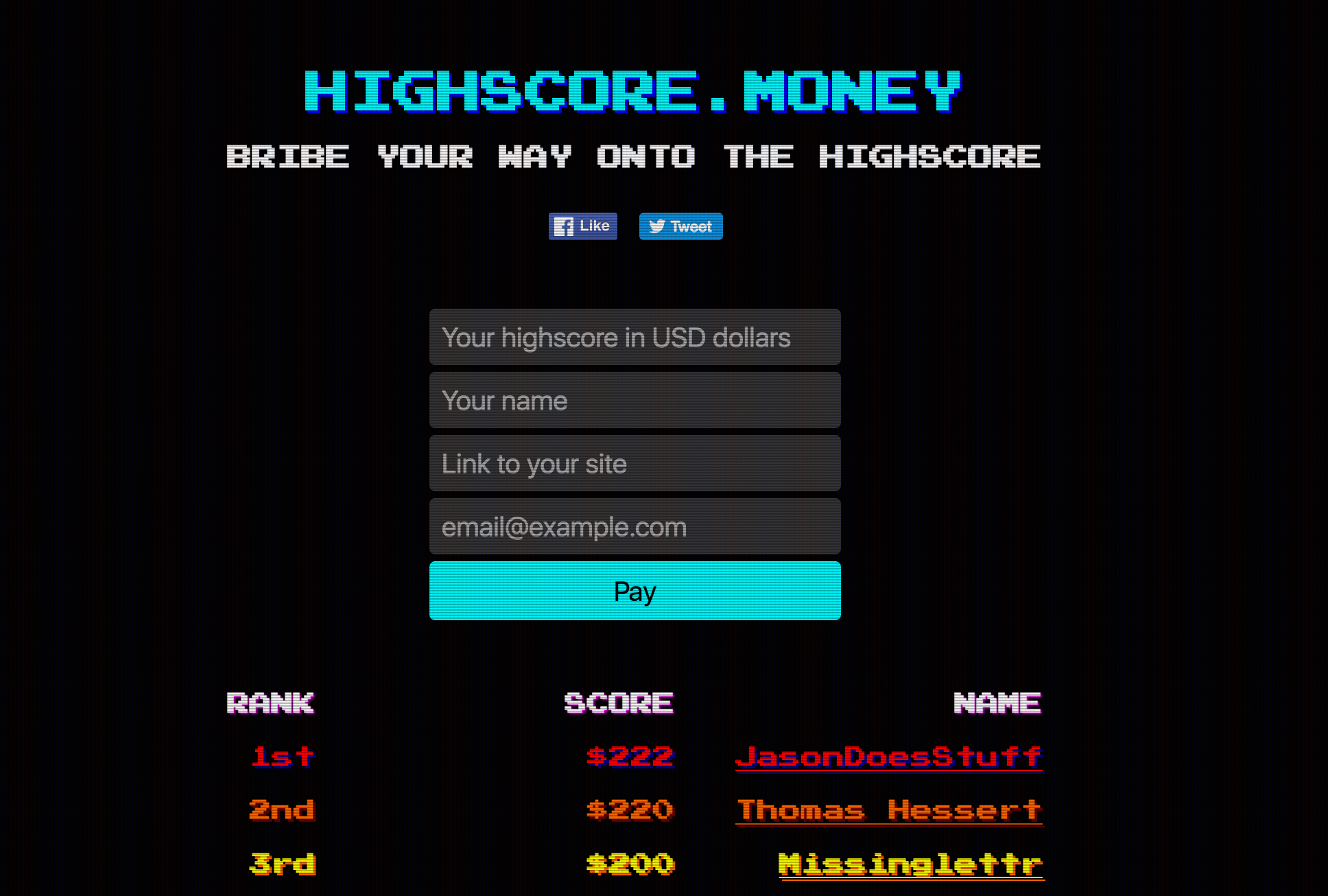 Highscore.money and JasonDoesStuff