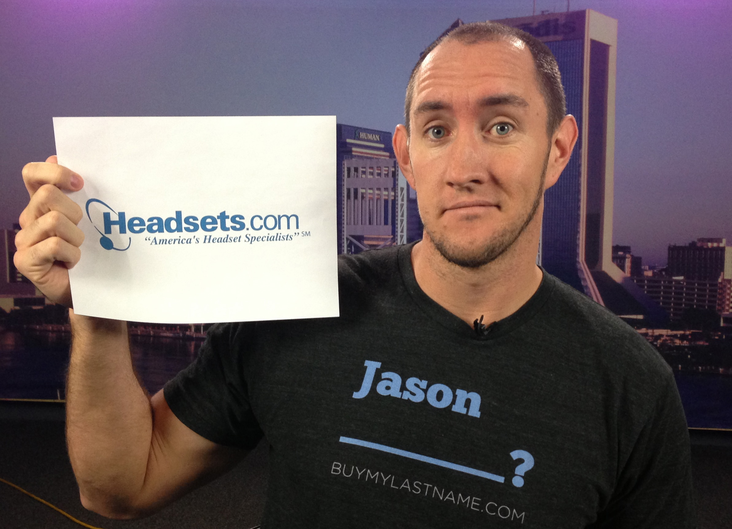 Guy sells his last name - Jason Headsetsdotcom