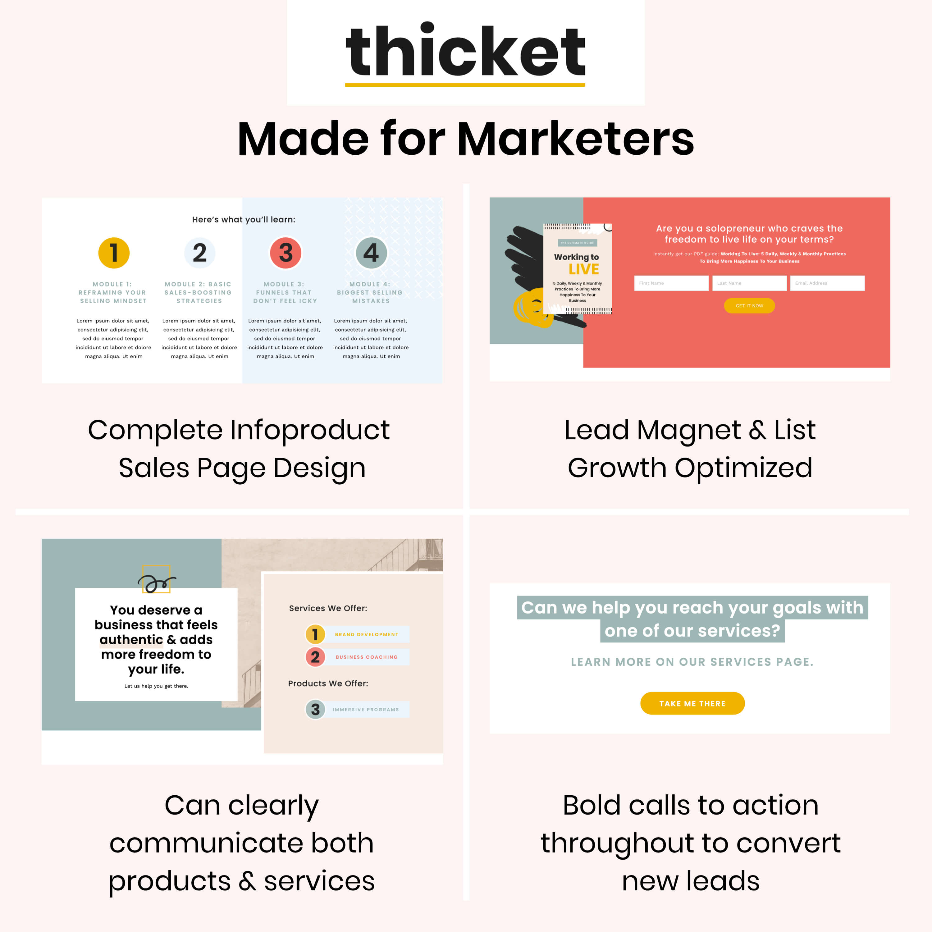 Squarespace template for marketers