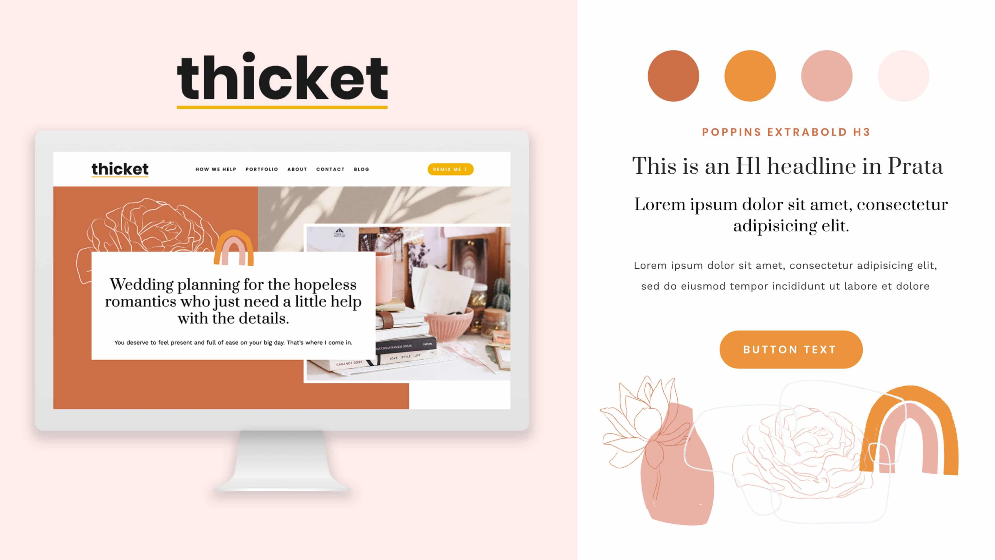 Wedding Industry Squarespace Template